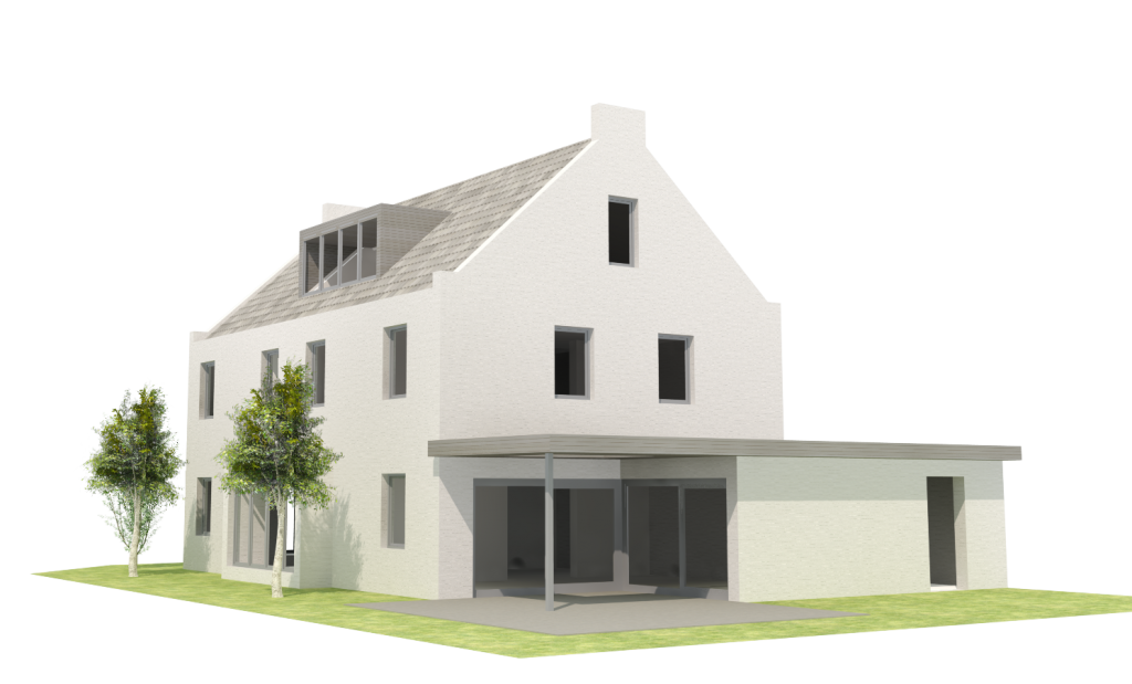 Landloft 912 vrijstaande woning olivier vet architect for Zelf woning ontwerpen